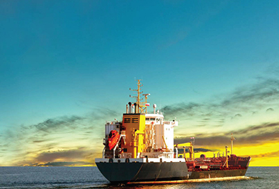 Cover photo of DVB Bank's Shipping & Offshore brochure